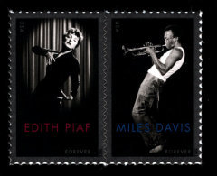 USA, 2012 Scott #4692-4693, Edith Piaf And Miles Davis, Forever Pair, MNH, VF - Unused Stamps