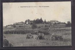 CPA 21 - HAUTEVILLE - Vue D'esnemble - Très Jolie Vue Générale Du Village + TB TAMPON MILITAIRE Verso - Autres Communes