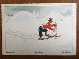 (ski) SAMIVEL: Le Débutant. Carte Neuve, Vers 1956. - Samivel