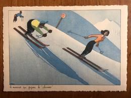 "(ski) SAMIVEL: Le Monsieur Qui Prépare Le ""chamois"". Carte Neuve, Vers 1950. - Samivel"