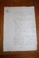 ACTE NOTARIAL 1879 - Suite Testament à Brugeand. Vallière Canton De Felletin Arrondissement D'AUBUSSON - Creuse 23 - Vieux Papiers