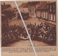 BAELEN - NETHE...1928...JAARLIJKSE KERMIS BLOEMENSTOET INGERICHT DOOR ST.BARBARA GILDE - Non Classés