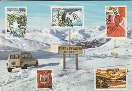 ANDORRE--VALLS D'ANDORRA--( Voiture Renault 4L  )--multivues--voir 2 Scans - Andorre