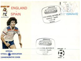 (151) Spain FDC Cover - Fottball World Cup 1982 - England V Spain - Copa Mundial