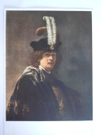 Rembrandt Van Rijn  Tableau Selbstbildnis Mit Federhut Selfportrait With A Plumehat Zelfportret Met Hoed En Pluim Plume - Peintures & Tableaux