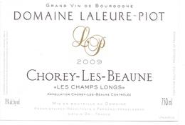 Etiket Etiquette - Vin - Wijn - Bourgogne - Chorey Les Beaune - Domaine Laleure Piot - 2009 - Bourgogne