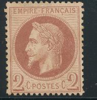N°26 NEUF * - 1863-1870 Napoléon III. Laure
