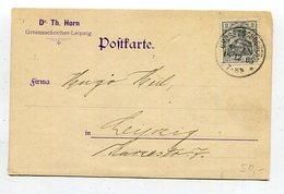 Deutsches Reich / 1905 / Mi. 83 EF A. Postkarte O GROSSZCHOCHER (10361) - Briefe U. Dokumente