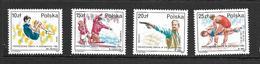 POLOGNE 1987 OLYMPHILEX'87  YVERT N°2926/29  NEUF MNH** - Unused Stamps