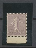 1903 Semeuse N°133 30c Lilas N** BDF TBC Signé Cote 1100€. SUPERBE P2203 - Neufs
