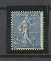 1903 Semeuse N°132 25c Bleu Neuf Luxe ** Signé Cote 220€. TB P2205 - Neufs