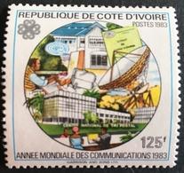 Ivory Coast World Communication Year 1983 Scott $125  Postage Fee To Be Added On All Items - Ivory Coast (1960-...)