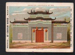 Paris : Chromo  MAGNIER Teinturerie AU CHAPEAU ROUGE : Exposition Universelle 1878 : Chine (PPP13124F) - Other