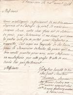 Lettre 1766 TARASCON Pour MARSEILLE États De Provence Fermes Du Roi Aux Saintes Maries Bouches Du Rhône - Marcophilie (Lettres)