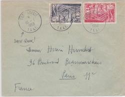 LSC - TERRE ADELIE Pour PARIS - 1958 - Timbres