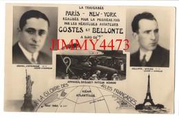 CPA - Par COSTES Et BELLONTE - La Traversée PARIS - NEW YORK Réalisée Pour La Première Fois - Aviateurs