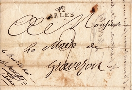 Lettre 1817 ARLES Pour Mairie De GRAVESON Bouches-du-Rhône Tribunal Civil Parquet Procureur Du Roi - Marcophilie (Lettres)