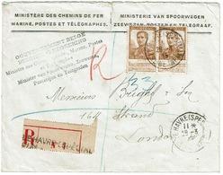 113  Paire  Rec.  Le Havre Spécial Vers Londres - 1912 Pellens