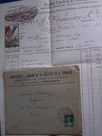 Enveloppe Et Facture Décorées / A . Prunière CL. Ferrand . Timbre PRO PATRIA N'achetez Plus Produits Allemands - Postmark Collection (Covers)