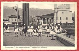 SOUVENIR DU 25 EME ANNIVERSAIRE DE L' INDEPENDANCE ALBANAISE - Ethno Costume. Old Pc Albania AL01/18 - Albania