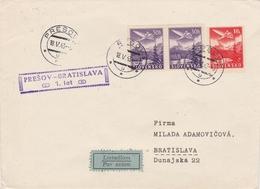 Slovaquie Lettre Aviation 1943 - Slovacchia