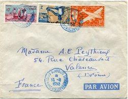 COTE FRANCAISE DES SOMALIS LETTRE PAR AVION DEPART DJIBOUTI 18-8-1950 POUR LA FRANCE - Côte Française Des Somalis (1894-1967)