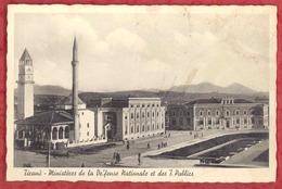 TIRANA - TIRANE - Ministeres De La Defense Nationale Et Des T. Publics. Old Pc Albania AL01/21 - Albania