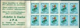 FRANCE Carnet 1973 Jeunesse Au Plein Air N Xx De 10 Ex Enfant Sur Insecte (sauterelle) Rare TB. - Blocs & Carnets