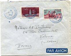 COTE FRANCAISE DES SOMALIS LETTRE PAR AVION DEPART DJIBOUTI - AVION 31-3-1953 POUR LA FRANCE - Lettres & Documents