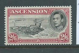 Ascension 1938 KGVI Definitive 2/6 Pier Perf. 13.5 FM - Ascension