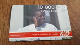 CARTE PRÉPAYÉE USED SÉNÉGAL 10000 FCFA +2000  SONATEL - Senegal