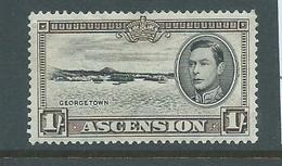 Ascension 1938 KGVI Definitive 1 Shilling Georgetown View Perf. 13.5 FM - Ascension