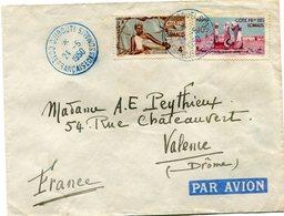 COTE FRANCAISE DES SOMALIS LETTRE PAR AVION DEPART DJIBOUTI 24-5-1950 POUR LA FRANCE - Lettres & Documents