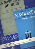 Livre - Revue De La Navigation Fluviale Européenne Ports Et Industrie : Le Port Autonome De Strasbourg A 50 Ans - Alsace