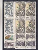 Tchècoslovaquie - Yvert 1825 / 30 ** - MNH - Bloc De 4 - Peintures - Nus - Tableaux - Drapeaux - Valeur 18 Euros - Nuovi