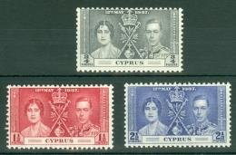 Cyprus: 1937   Coronation     MNH - Cyprus (...-1960)