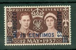 Morocco Agencies - Spain: 1937   Coronation    MH - Morocco (1956-...)