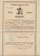 Grand Cartouche 1867 Régiment Chasseurs à Pied Thomas Beverlo - Arlon - Virton - Robelmont - Documenten
