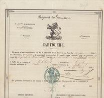 Grand Cartouche 1882 Régiment Des Grenadiers Maisse Fait à Malines Pour Robelmont Virton - Dokumente
