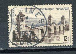 """FRANCE -  LE PONT VALENTRE - N° Yvert 1039 Belle Obliteration Ronde De """"DOUCHY-LES-MINES"""" De 1957 - France"""