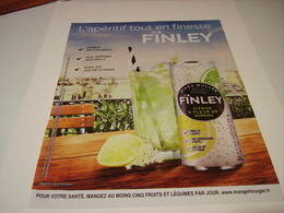 PUBLICITE APERITIF TONIC FINLEY 2016 - Posters