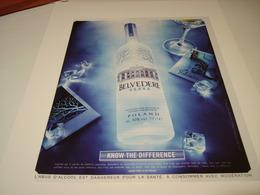 PUBLICITE VODKA BELVEDERE 2016 - Posters