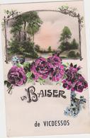 VICDESSOS -(09)- 2 C.P: UN BAISER DE VICDESSOS + N°4055 ENVIRONS DE V. - SIGUER. - Autres Communes