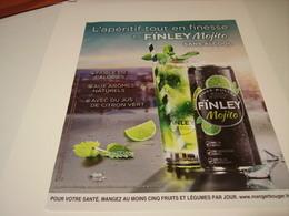 ANCIENNE PUBLICITE TONIC FINLEY MOJITO  2016 - Posters