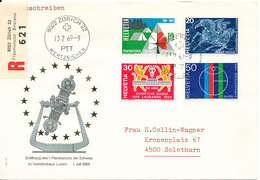 Switzerland Registered FDC 13-2-1969 With Cachet Sent To Germany - FDC
