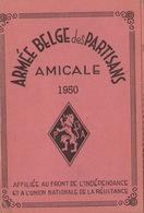 Carte Membre De L'armée Belge Des Partisans 1950 Résistance Guerre Au Nom De Gérard Wavre Sceau Et Timbres - Documenten