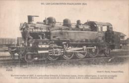 163 - Les Locomotives Françaises (Est) Machine Tender N°4447 Surchauffeur Schmidt Trains Lourds Banlieue 1911-1914 - Matériel
