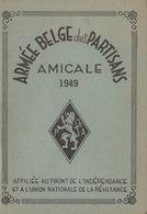 Carte Membre De L'armée Belge Des Partisans 1949 Résistance Guerre Au Nom De Gérard Wavre Sceau Et Timbres - Documenten