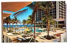 #305   View Of 'New Hotel' Swimming Pool, Sea - San Juan PUERTO RICO Caribbean Islands - US Postcard - Ansichtskarten