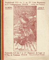 Programme 1947 Regiment De Ligne Et De Forteresse Oost Vlaanderen Fraternelle Des Anciens Combattants - Documenten
